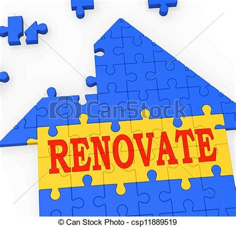 clipart of renovate house means improve and construct
