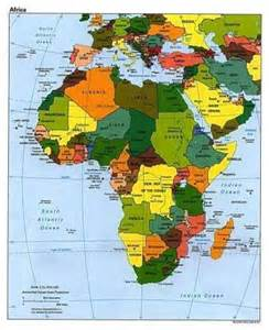 africa map geography geography for countries and the continent of africa