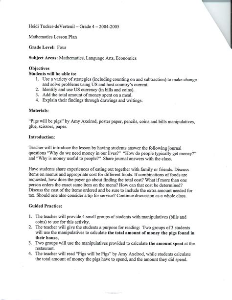 Math Lesson Plan Outline by Lesson Plan Math Search Results Calendar 2015