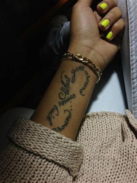 what goes around comes around tattoo