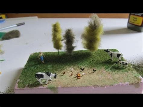How To Make A Diorama Out Of Paper - how to make miniature trees for dioramas or railroads