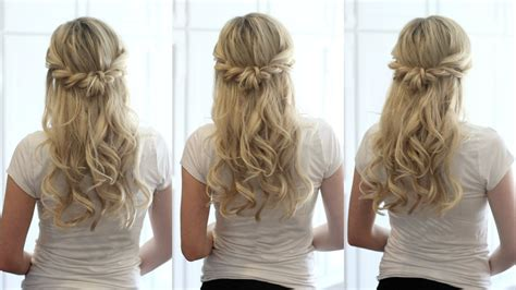 whats up with weekends hair style soft romantic half up style youtube