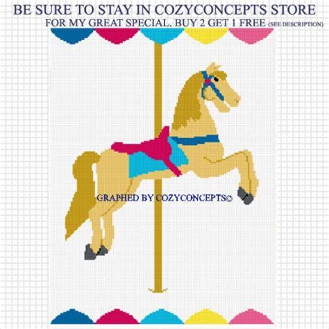 cozyconcepts carousel horse merry go round crochet afghan