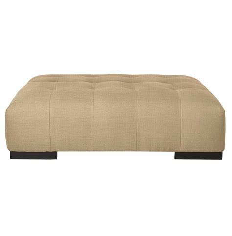 arden modern classic tufted linen rectangle coffee