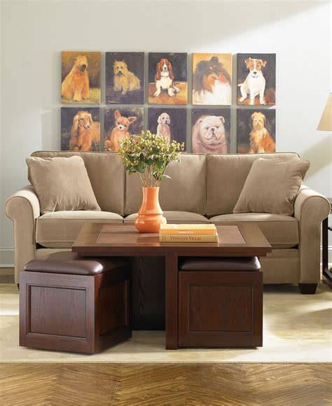 kanson square coffee table with storage cubes