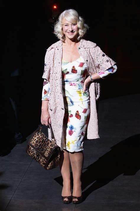 Catwalk To Front Row Fashion Week by Helen Mirren Photos Photos Dolce Gabbana Front Row