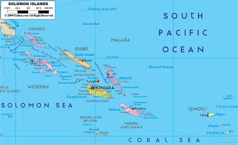 map of the islands political map of solomon islands ezilon maps