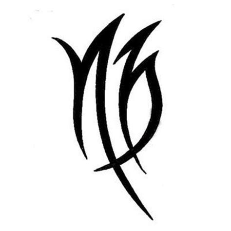 virgo symbol tattoo designs virgo symbol tattoo2 tattooed on my mind