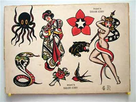 tattoo flash sheets for sale vintage tattoo flash sailor jerry collins for sale cobra and