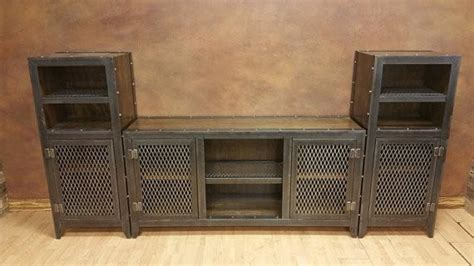 013 vintage industrial entertainment center