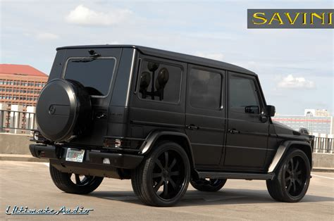 mercedes g wagon matte black g wagen savini wheels