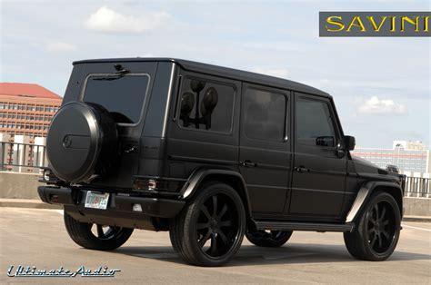 mercedes g class matte black g wagen savini wheels