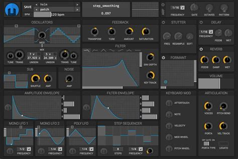 best instrument vst plugins helm synthesizer by matt tytel free vst au aax plugin