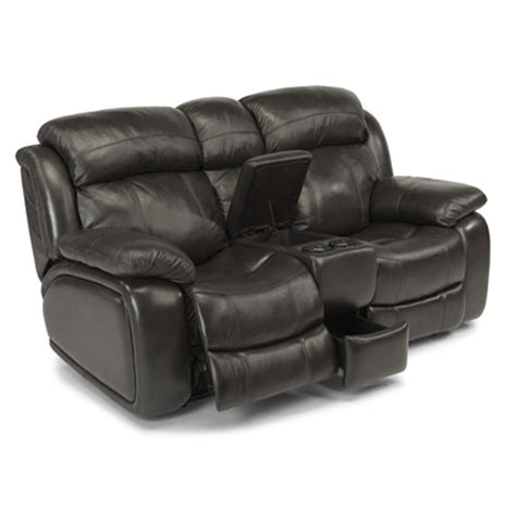 Reclining Seat With Console by Flexsteel 1409 604p Como Leather Power Reclining Seat