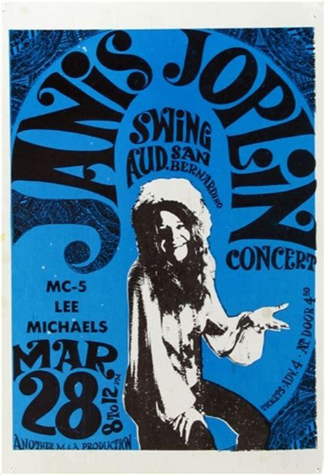 janis joplin original concert postcard swing auditorium