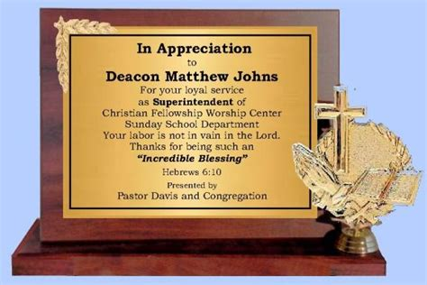 pastor appreciation plaque wording