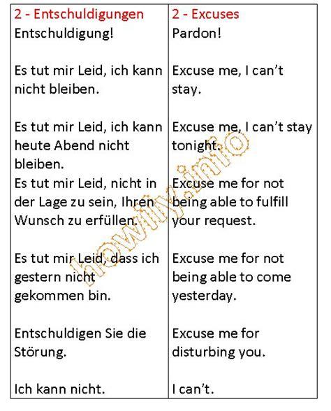 Excuse Letter In German Ein Katalog Unendlich Vieler Ideen