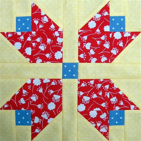 Free Tulip Quilt Block Pattern by Starwood Quilter Tulip Quilt Block