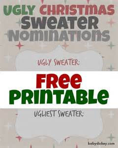 ugly christmas sweater party printables amp holiday bark recipe