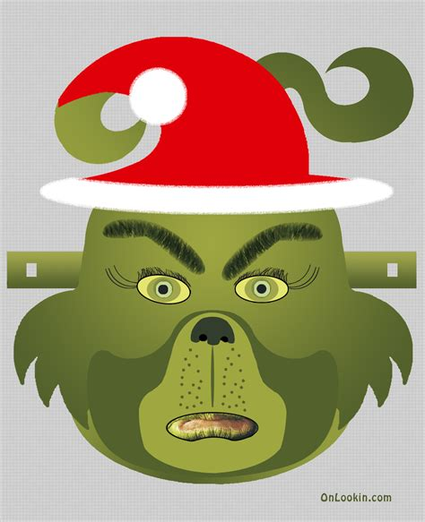 printable christmas masks best photos of grinch mask template cut out grinch face