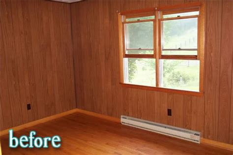 paint over wood paneling room by rose better after