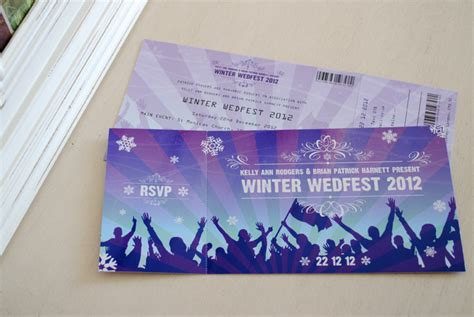 wedding invitations like concert tickets festival ticket themed wedding invitations wedfest