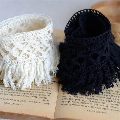 18901 Black Priscet Lace 2 meters best price cotton fringe lace trim sewing material accessories sale beige black