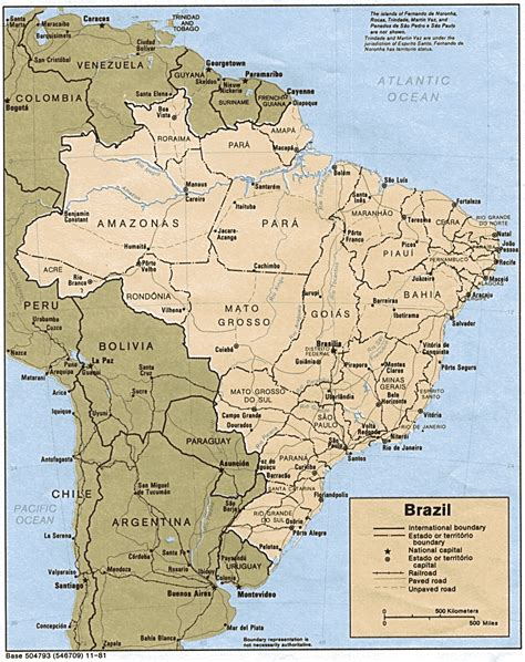 map of brasil brazil maps perry casta 241 eda map collection ut library