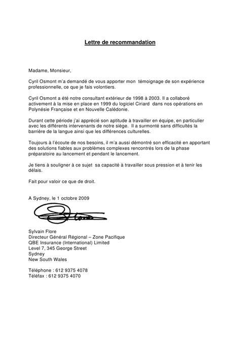 Lettre De Recommandation Harvard exemples lettre de recommandation images