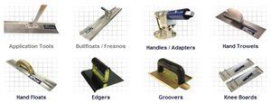 concrete finishing tools concrete finishing tools trowels floats edgers and groovers the concrete network