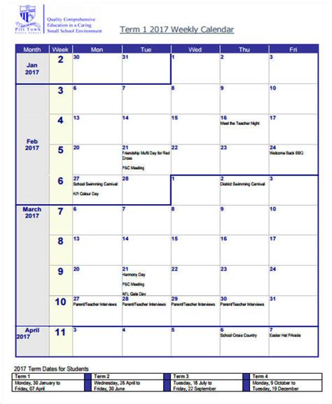 weekly meeting calendar template 26 blank calendar templates