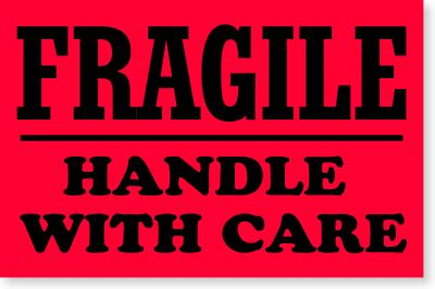 fragile stickers amp fragile labels free shipping