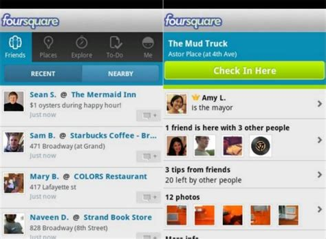 update my androidfoursquare android app updated with new ui