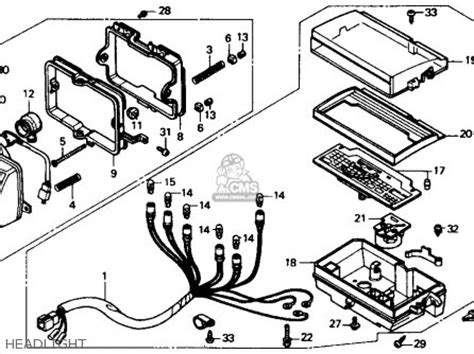 1985 honda trx 125 wiring diagram 1985 honda shadow 700
