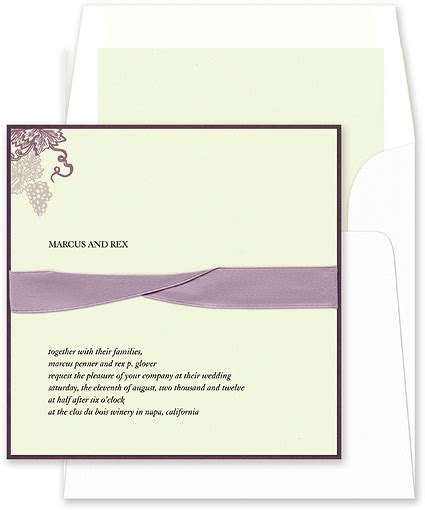 On Wedding Invitation Whose Name Is