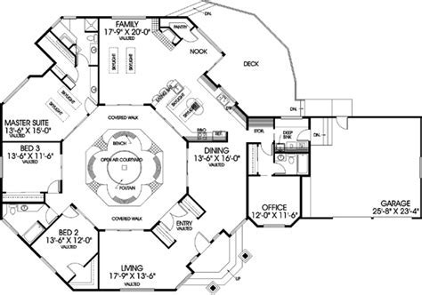 Traditional House Plan   3 Bedrooms, 3 Bath, 2698 Sq Ft