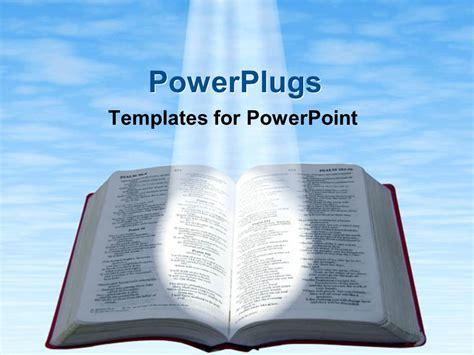 Powerpoint Template Spotlight Glowing On Open Bible With Spotlight Powerpoint Template
