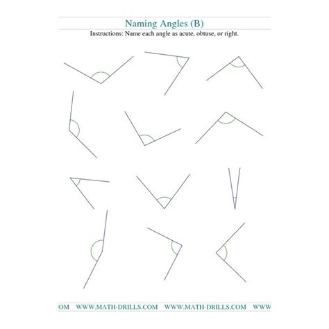 geometry worksheet naming angles a teacher ideas geometry worksheet naming angles b teaching ideas