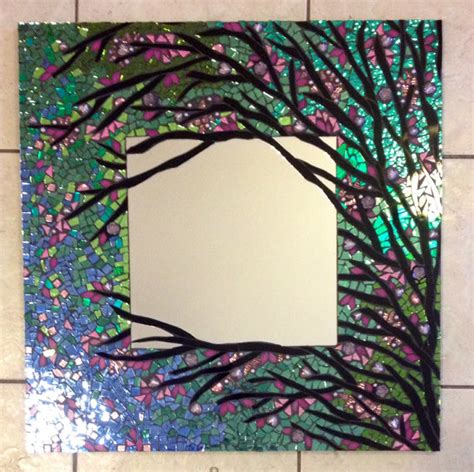 Handmade Mosaic Tiles - mosaic mirror large handmade stained glass by