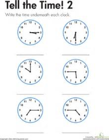 learning to tell time for grade 2 3 new calendar