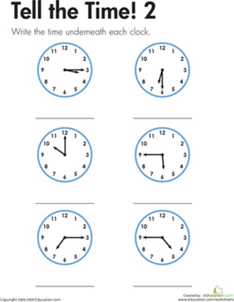 telling time worksheets for 2nd grade telling the time made easy worksheet education com