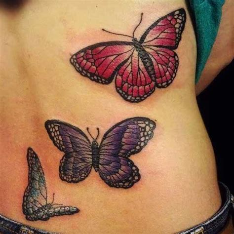 butterfly tattoo going up back awesome colored butterfly tattoos on back