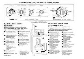 kenmore washer 26842 user guide manualsonline com