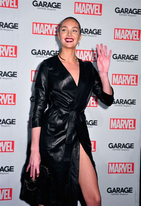 Garage Clothing Nyc Candice Swanepoel At Marvel And Garage Magazine New York