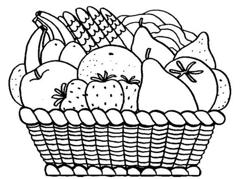 vegetable basket coloring page www imgkid com the