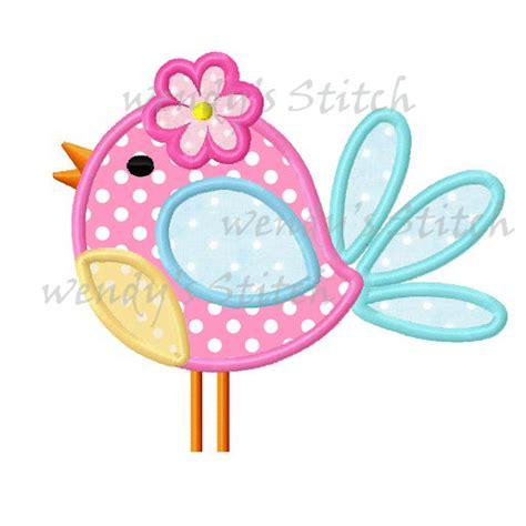 cute applique pattern cute flower bird applique machine embroidery design digital