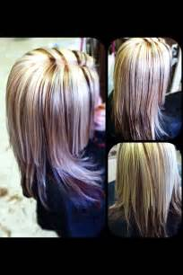 ptatinum highlights on brown hair platinum blonde red highlights dark brown hairs