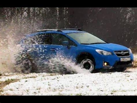 Subaru Crosstrek Snow by Subaru Crosstrek Xv On A Snow