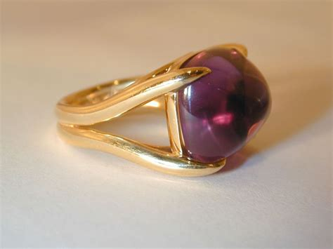 swing rings cabochon amethyst swing ring at 1stdibs