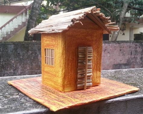 house make space student project model of kutcha house